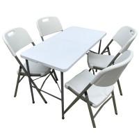 Mesa plegable de 1,20 x 60 x 75 de altura con 4 sillas Plegables